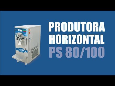 Produtora Horizontal De Sorvete E Açaí PS 80/100 - Polo Sul Máquinas Para Sorvetes