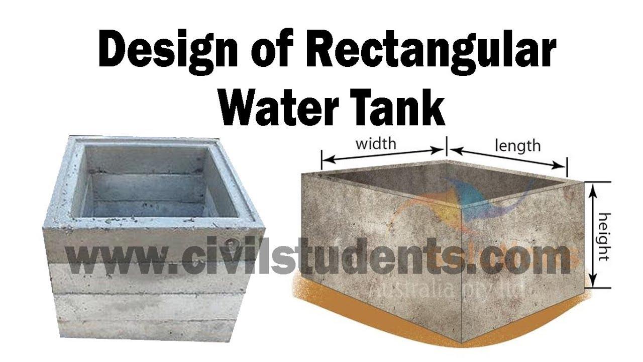 Design of Rectangular Water Tank