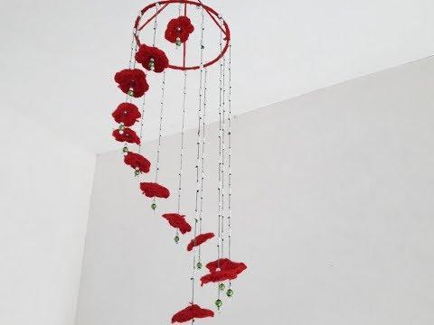 DIY HOW TO MAKE Wall Hanging Woolen using / room / decoration ART/CREATIVITY