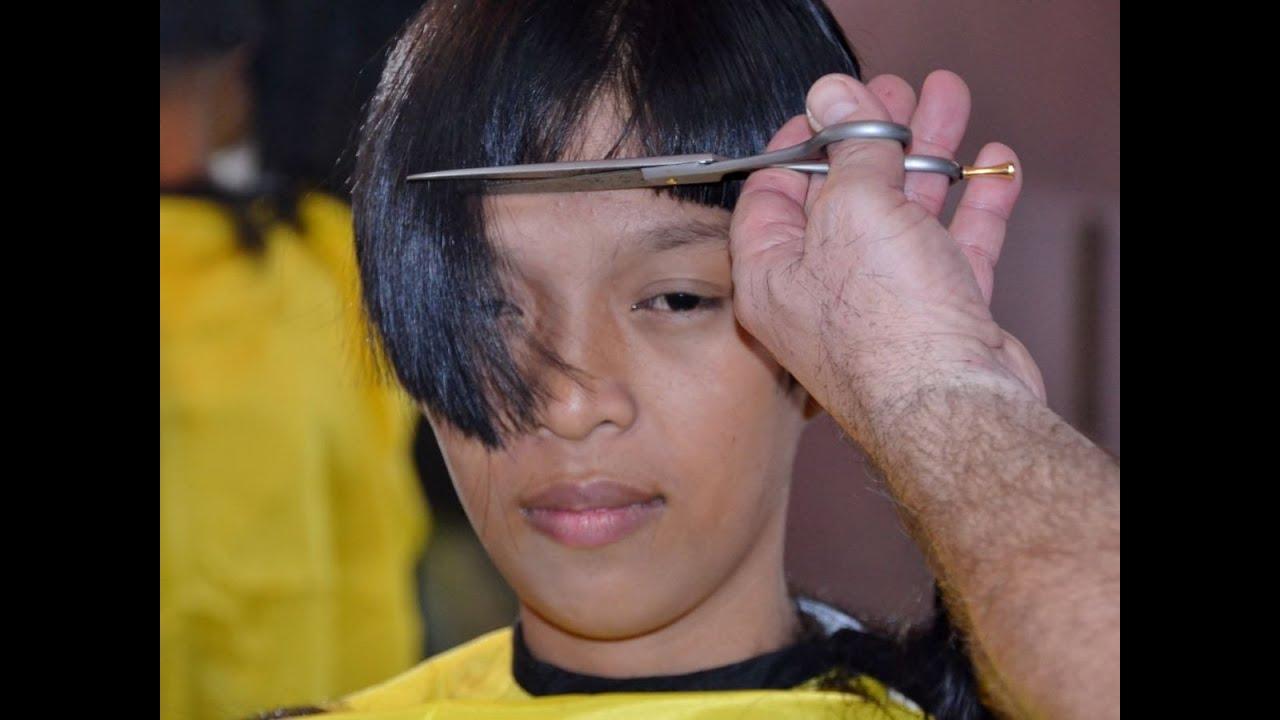 Bangs Short Cut Girl Youtube