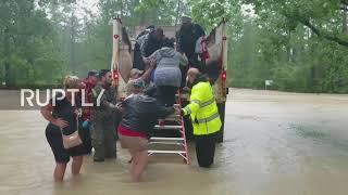 USA: Cajun Navy joins rescue operations as Hurricane Harvey swamps Houston