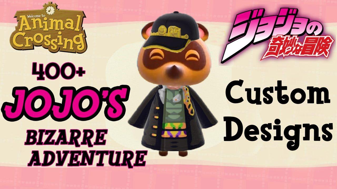 400 Jojo Animal Crossing New Horizons Custom Designs Youtube