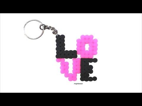 DIY LLAVERO LOVE de hama beads | San Valentín - Día de los enamorados
