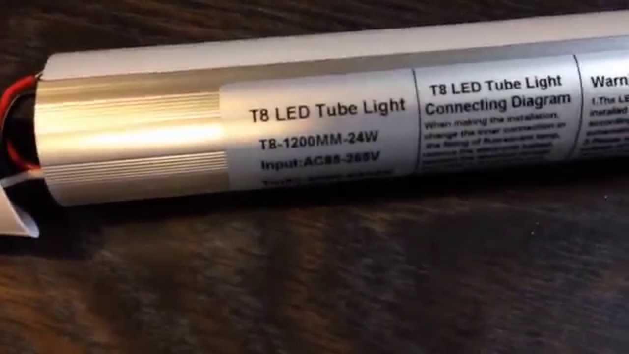 Led T8 Fluorescent Tube Modification Youtube 2 L Ballast Wiring Diagram Light