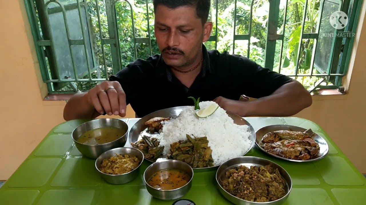 Best Summer Eating Show | Rice with Mochar Ghanta | Mustard Tilapia Fish Curry | Chalta Chutney