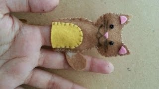 How To Make Cute Cat Finger Puppet - Diy Crafts Tutorial - Guidecentral