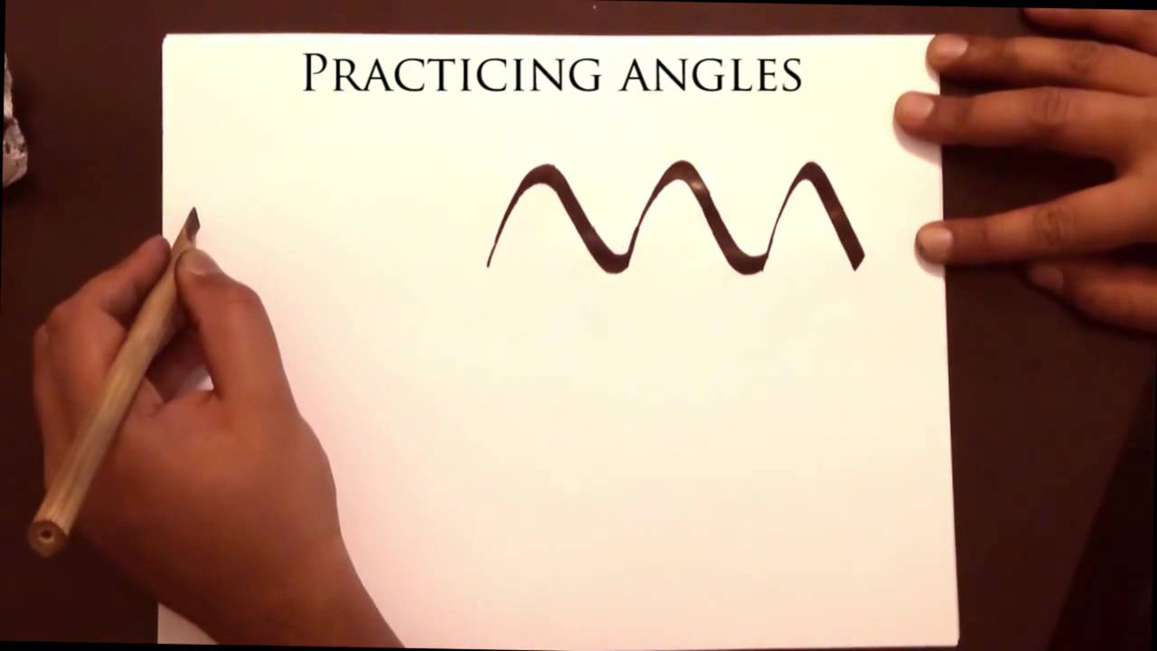 Arabic Calligraphy Course Dynamics Of The Pen Scaling