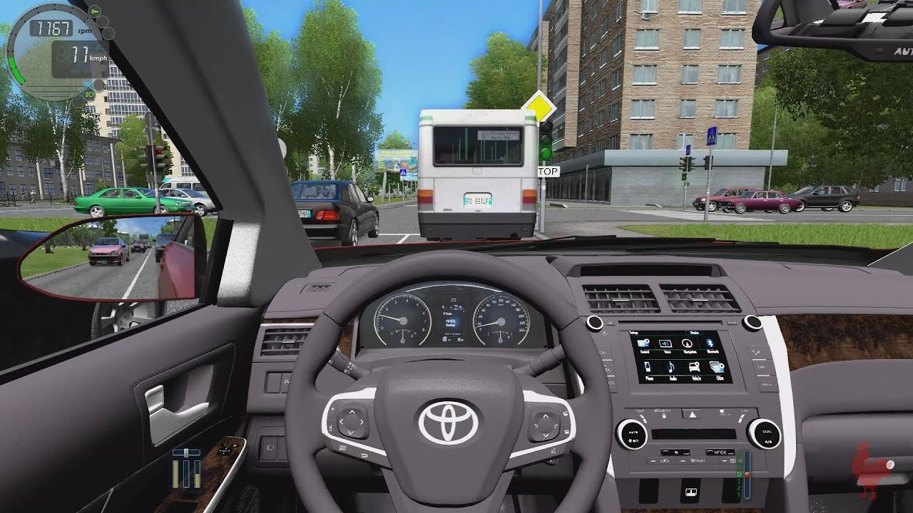City Car Driving Toyota Camry V55 3 5 Youtube