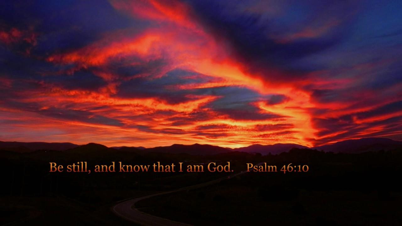Sunset Over Franklin Desktop Wallpaper Psalm 4610 Youtube