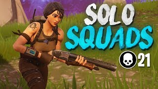 21 KILL SOLO SQUAD WIN!!! Full Gameplay (Fortnite Battle Royale)