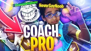 "I have TROLL a ""Coach"" Fortnite by pretending to be a Noob ..."