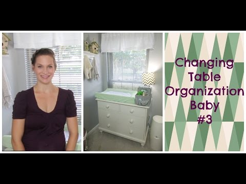 Changing Table Organization TIps Baby #3