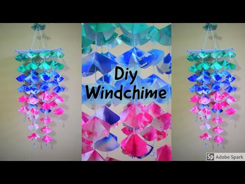 Amazing !!! DIY Paper Wall Hanging | Handmade Paper Craft Things | Wind Chime |parulpawar