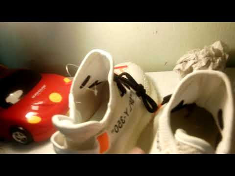 Nghiệp dư review giày yeezy 350v2 off white với giá 550k. #VDM Prank
