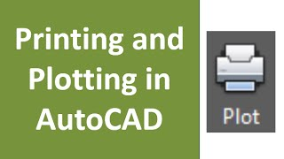 How to print drawing in AutoCAD