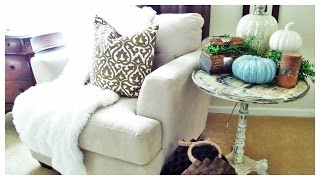 $5 Side Table Makeover | Using Martha Stewart Craft Vintage Decor Paint