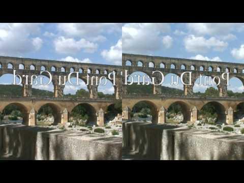 France 3D side by side format for Google Cardboard: Avignon, Pont Du Gard, Menton, Monaco and Cannes