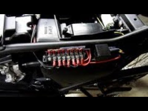 Power Wiring on a Yamaha XT250 - YouTube on