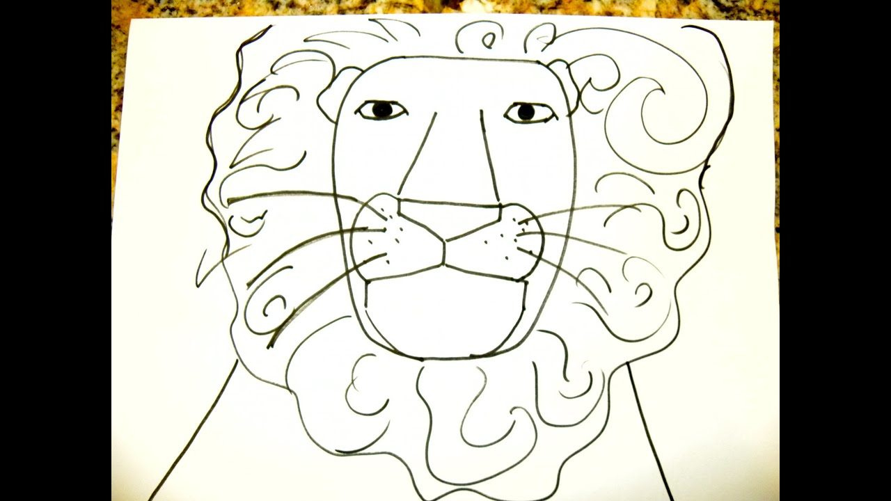 Kids Can Draw: Easy Lion - YouTube