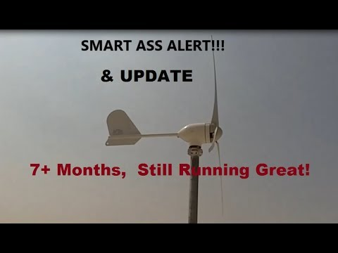 500 watt Chinese Wind Turbine UPDATE, 7 months, Working Great!