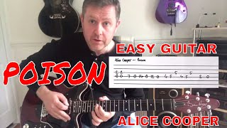 Easy Guitar - Poison - Alice Cooper Guitar Lesson