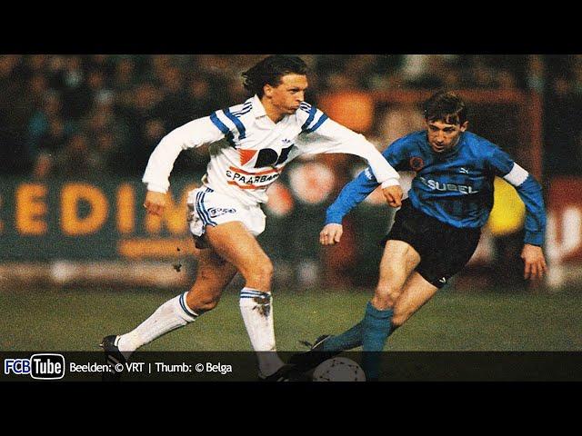1991-1992 - Jupiler Pro League - 19. AA Gent - Club Brugge 1-1