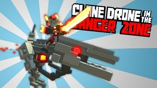 Flame Raptor Insanity Challenge! -  Clone Drone in the Danger Zone Gameplay