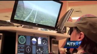 Keiki get pilot lessons at the Pacific Aviation Museum