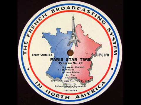 JEAN SABLON Recorded LIVE on French Radio 'Paris Star Time' c.1954 Pt 1