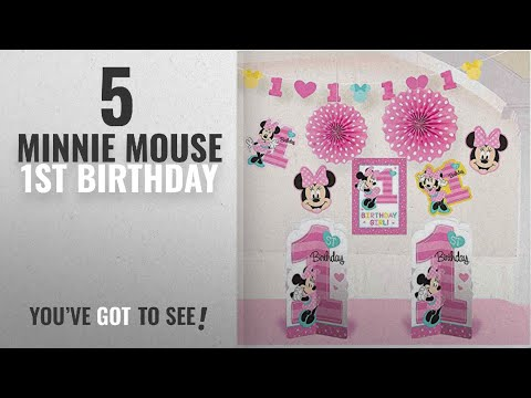 Top 10 Minnie Mouse 1St Birthday [2018]: 1st Birthday Minnie Mouse Room Decorating Kit 10 piece