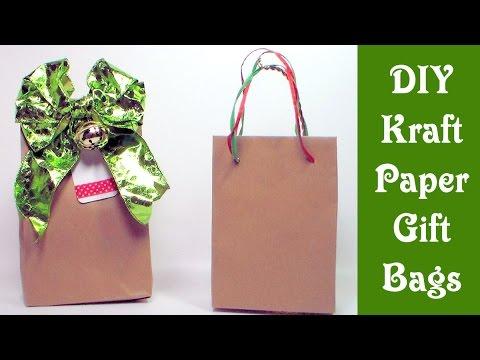 DIY kraft paper gift bags