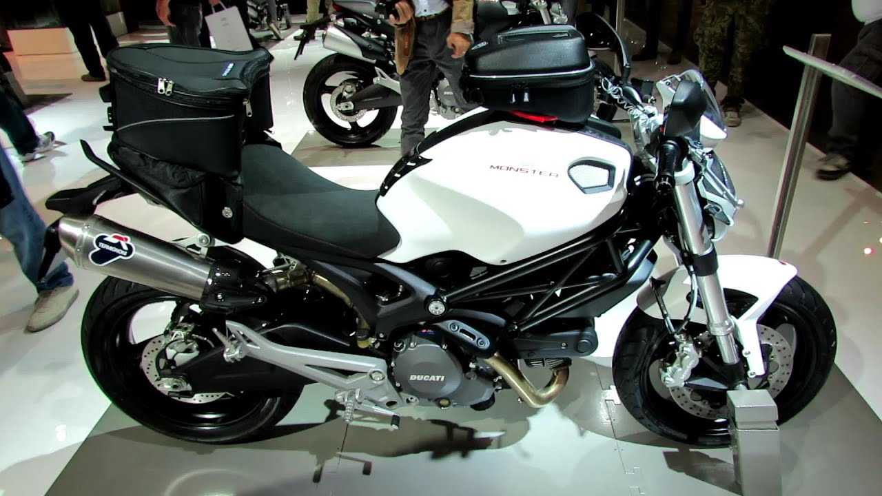 2014 ducati monster 696 accessoires walkaround 2013 eicma milan motorcycle exhibition youtube. Black Bedroom Furniture Sets. Home Design Ideas