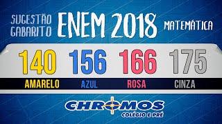 Gabarito ENEM 2018 CHROMOS - Prova Amarela: Questão 140   Matemática