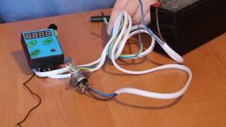 Таймер - счетчик для проката детских машинок с управлением тягой