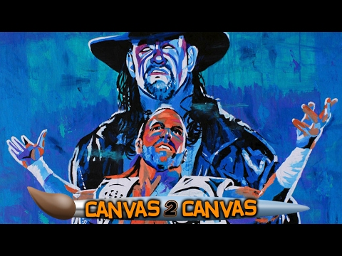 The Deadman & The Heartbreak Kid steal the show!: WWE Canvas 2 Canvas