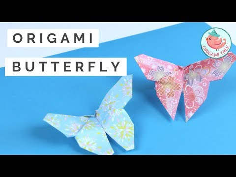 Origami Paper Butterfly | EASY Paper Crafts for Adults
