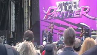 Steel Panther - Satchel guitar solo/ Asian Hooker ( Sauna Open Air 10.6.2010 )