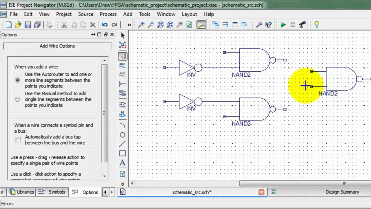 Basic Schematic Input Tutorial on