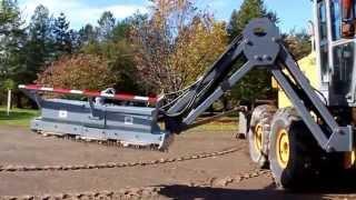 Gilbert GM-6 Brushcutter-mower mounted onto a folding boom arm