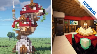 How to Build a Dual Mushroom House Minecraft 1 15 Tutorial YouTube