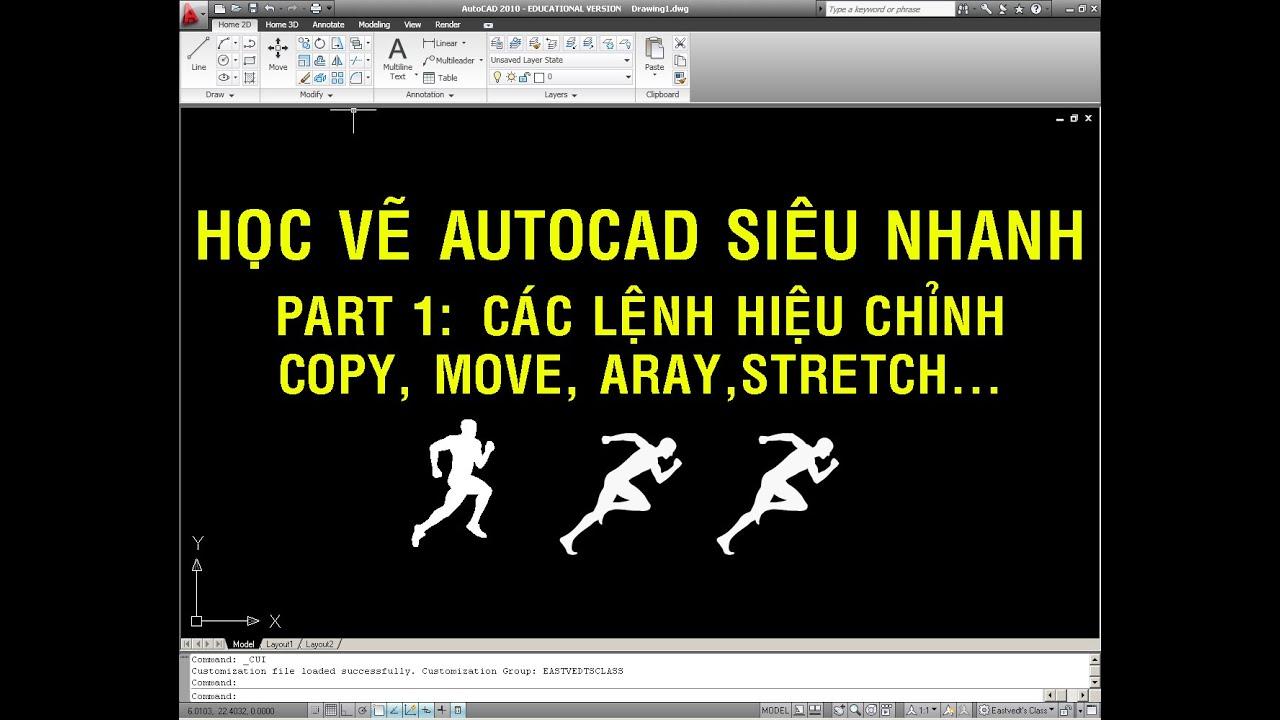 ✔ Học Vẽ Autocad Siêu Nhanh – Part 1 – Lệnh Hiệu Chỉnh – Autocad PhuongTk   NESA iCAD