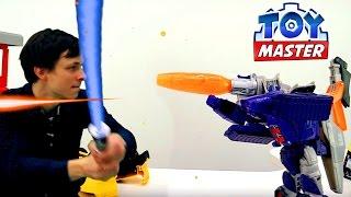 #Трансформеры: Гальватрон против всех! Toy Master - распаковка игрушек. Видео для мальчиков(Осторожно, трансформер Гальватрон пытается захватить мир! Смотрите в новом видео для мальчиков из серии..., 2016-12-07T13:57:26.000Z)