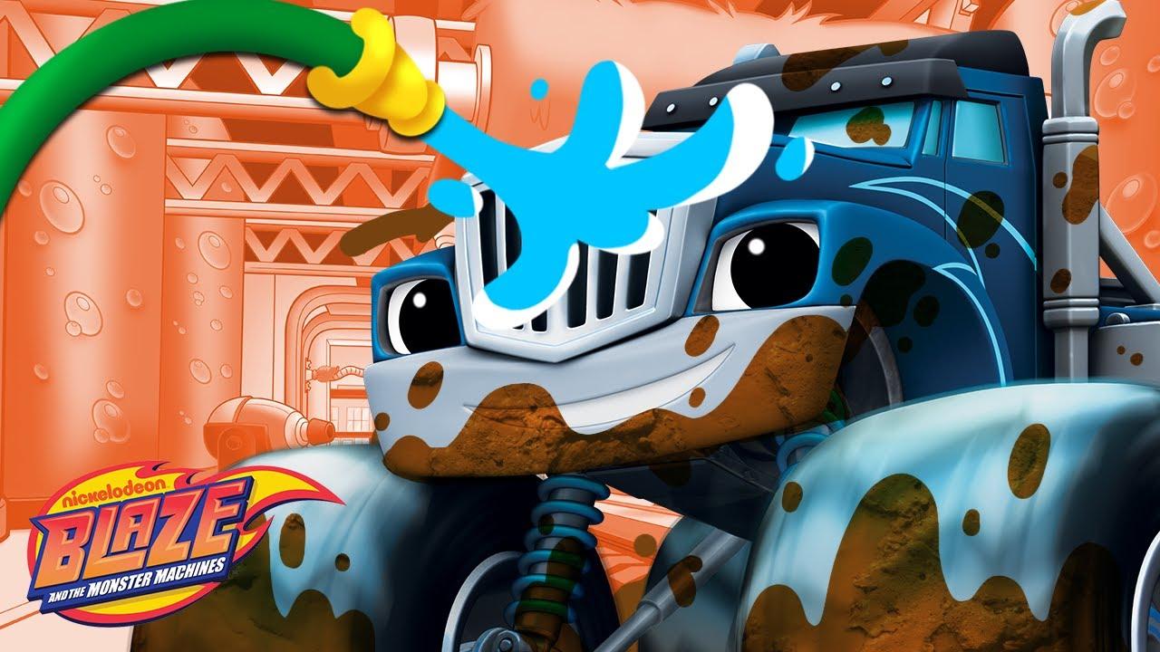 Car Wash Surprise #3 w/ the Monster Machines!   Blaze and the Monster Machines