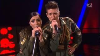 Gina & Danny vs Jedward - Lipstick - Melodifestivalen 2013 - HD