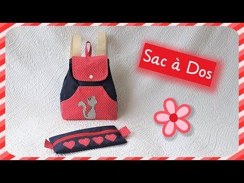 nouveaux styles f4513 462fa Couture Madalena Coudre Un Petit Sac à dos Pour Enfant - YouTube
