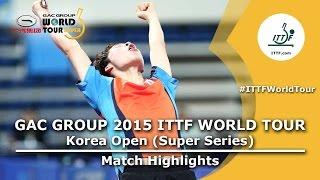 Korea Open 2015 Highlights: JANG Woojin vs GERELL Par (1/16)