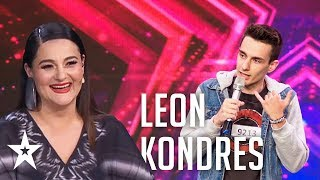 Leon Kondres makes the judges laugh│Supertalent 2019│Auditions