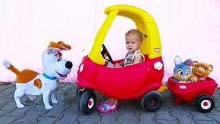 Johny Johny Yes Papa Nursery Rhymes Song, by Little Girl Elis, Ride On Power Wheel AMG Mercedes BMW