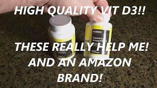 REVIEW Amazon Brand - Solimo Vitamin D3 50mcg (2000 IU) 365 Softgels