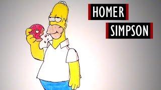 Homer Simpson (The Simpsons) - Szybkie Rysowanie #17 [Kocham Rysować]